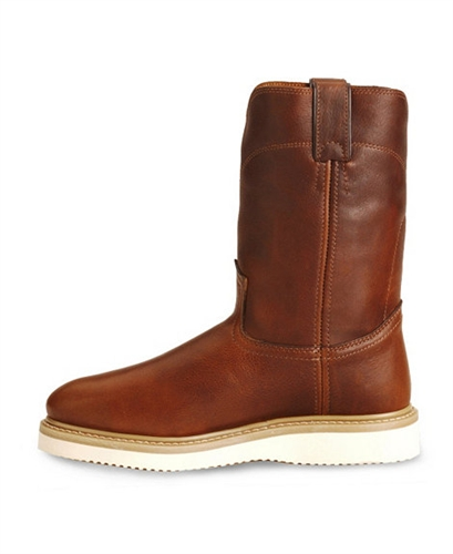 justin premium wedge work boots soft toe